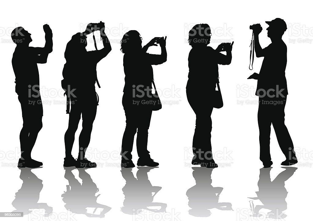 People with cameras royalty-free stock vector art