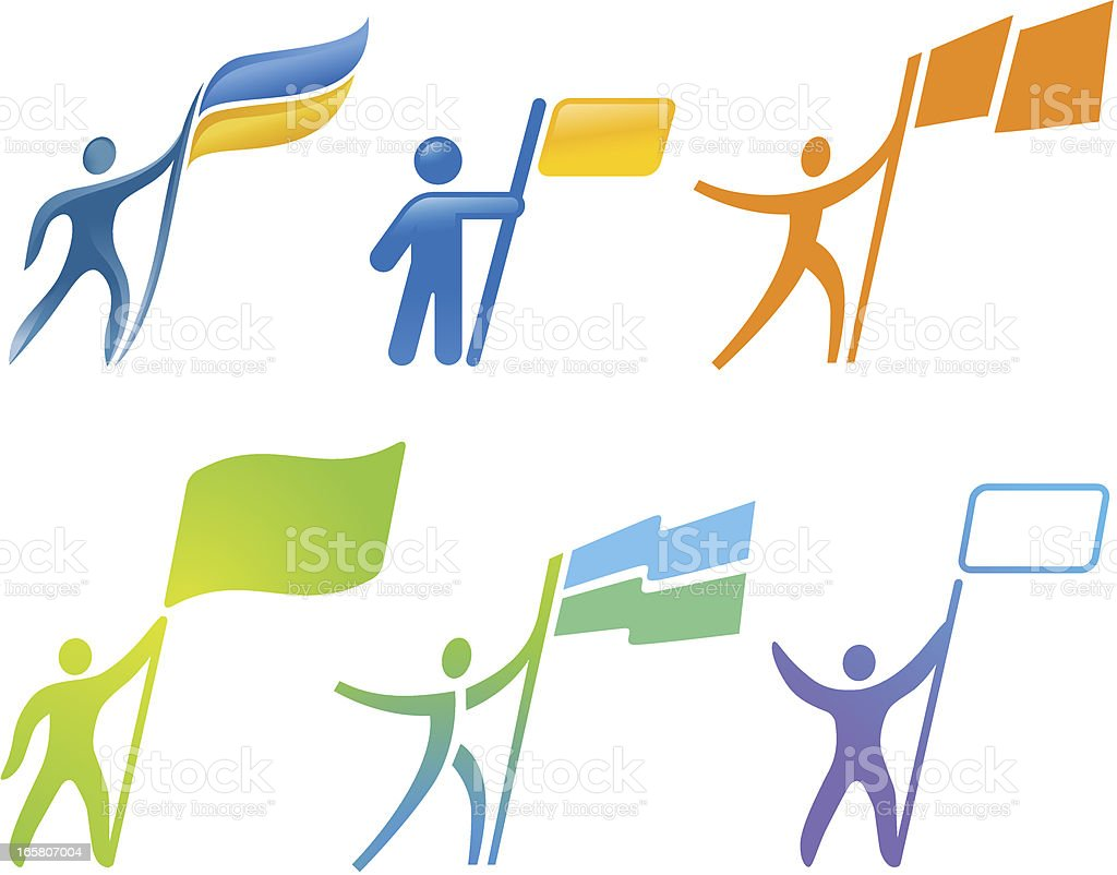 People with Flag royalty-free stock vector art