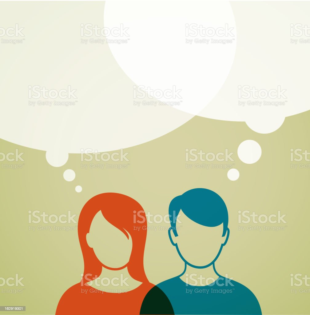 people with speech bubbles royalty-free stock vector art