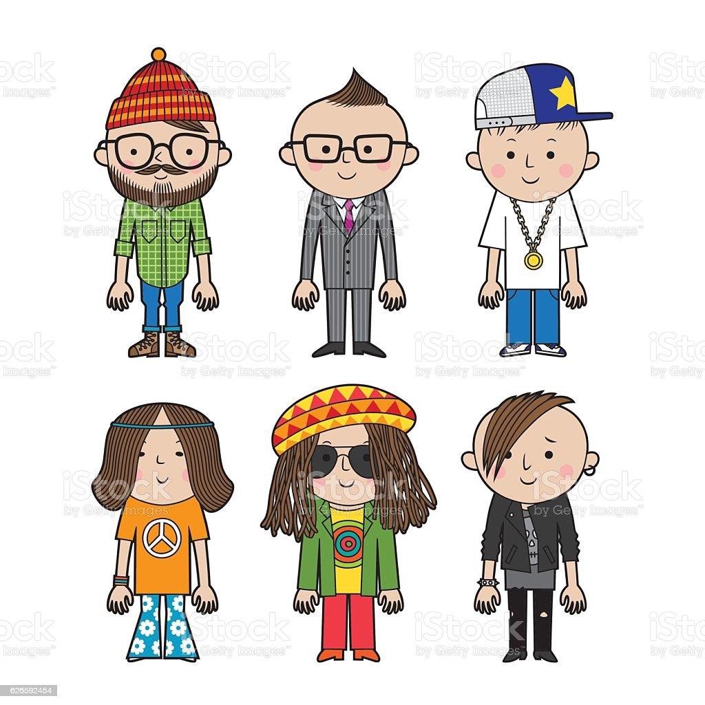 people_small1 vector art illustration
