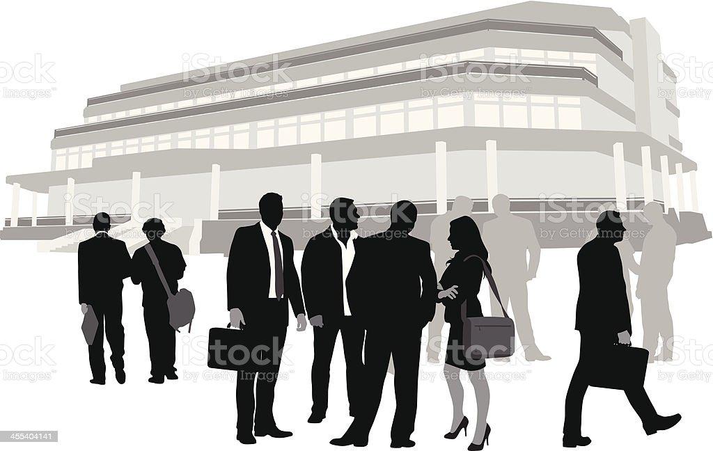 PeopleBusiness vector art illustration