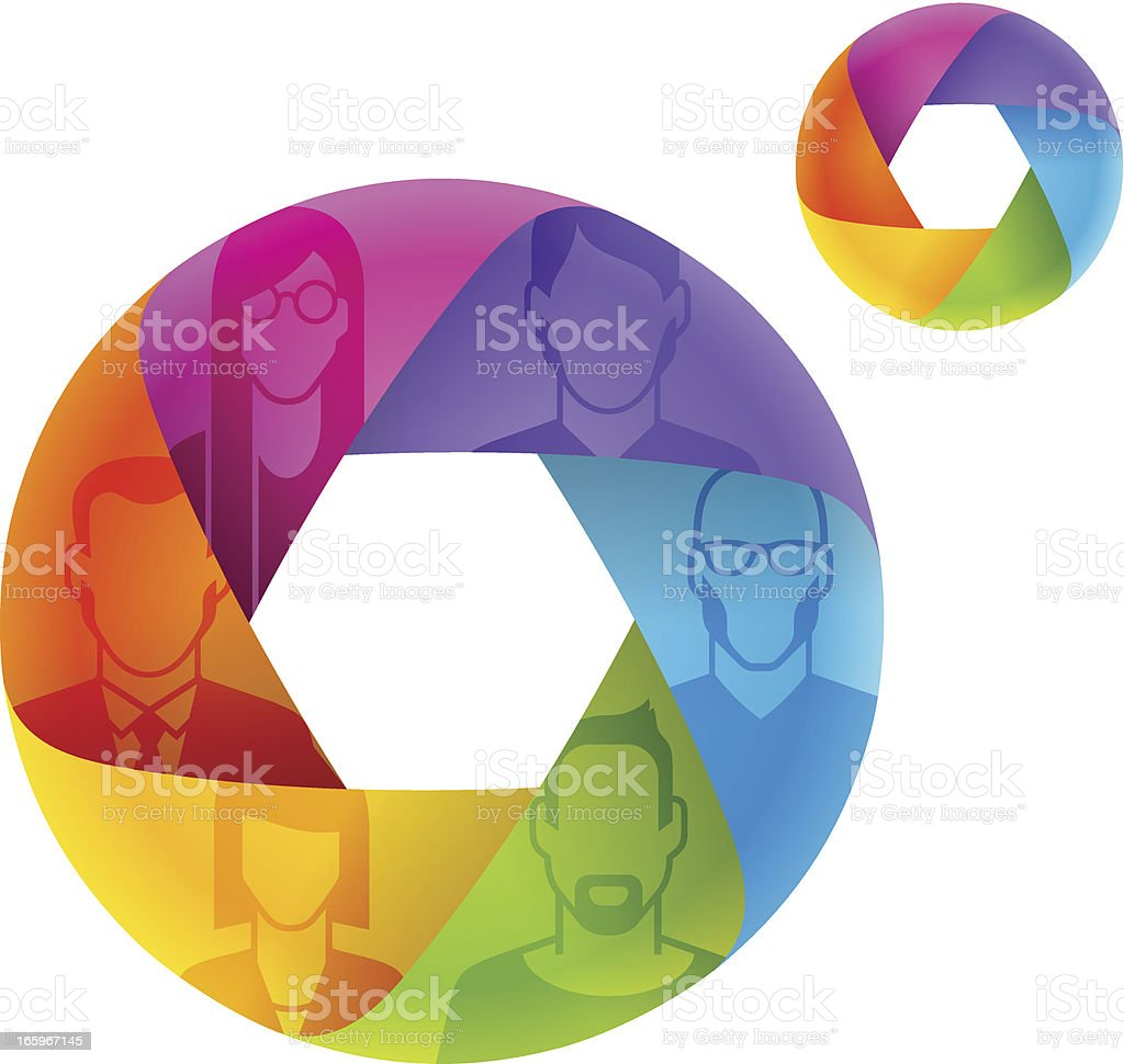 People's profile in mobius royalty-free stock vector art