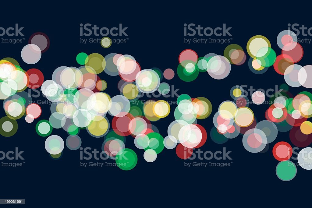 Pepper Bokeh Circle Pattern Horizontal royalty-free stock vector art