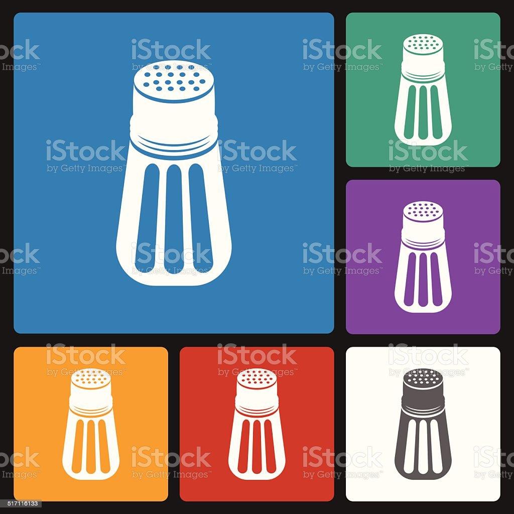 pepper shaker icon vector art illustration