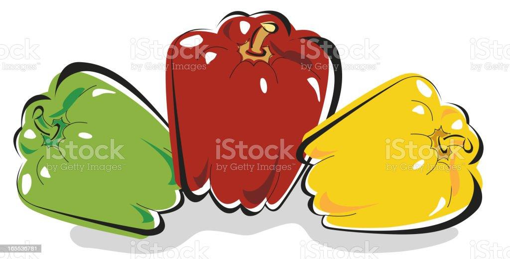 Pepper vector art illustration