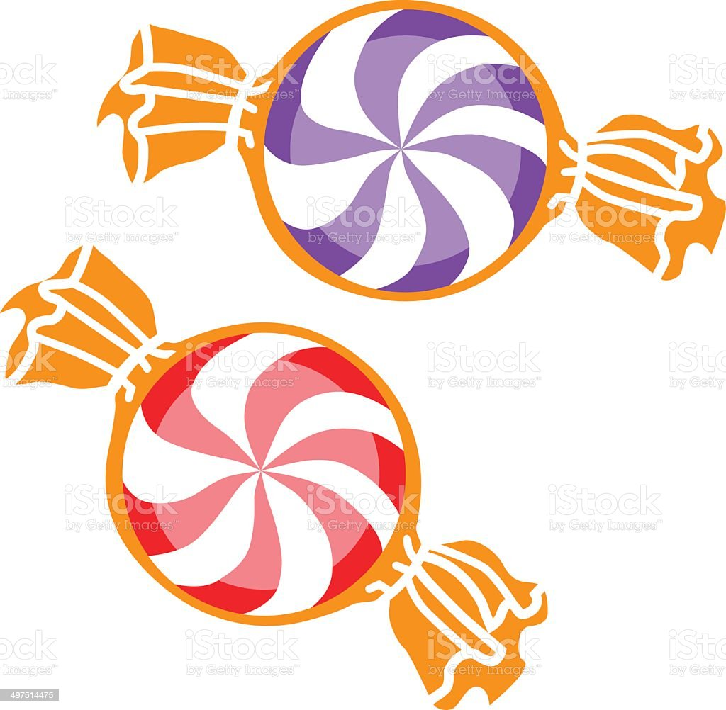 peppermint candies vector art illustration