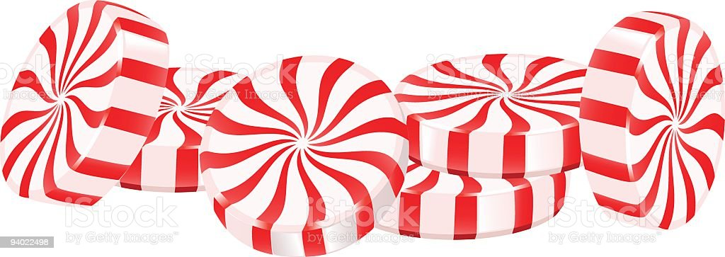 Peppermint Candy royalty-free stock vector art