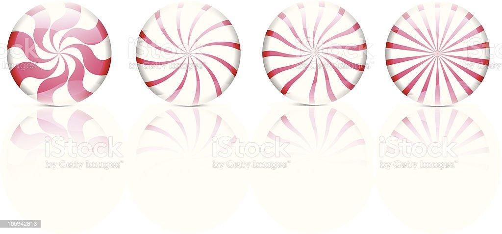 Peppermint Candy - Vector Illustration vector art illustration