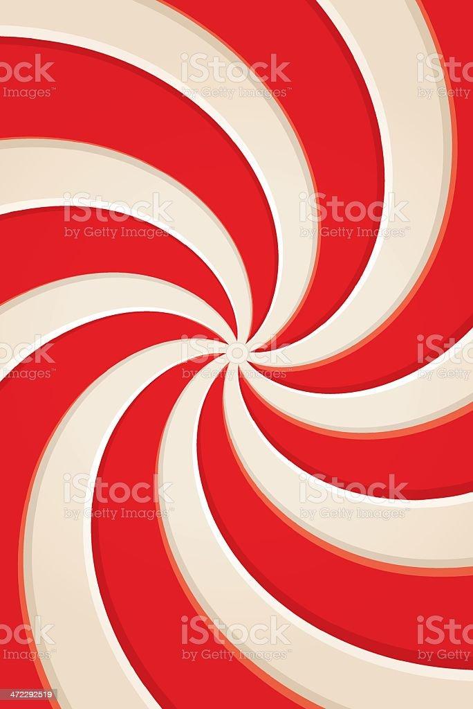 peppermint swirl vector art illustration