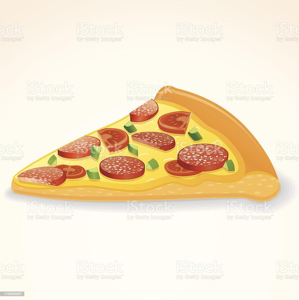 Pepperoni Pizza Slice royalty-free stock vector art