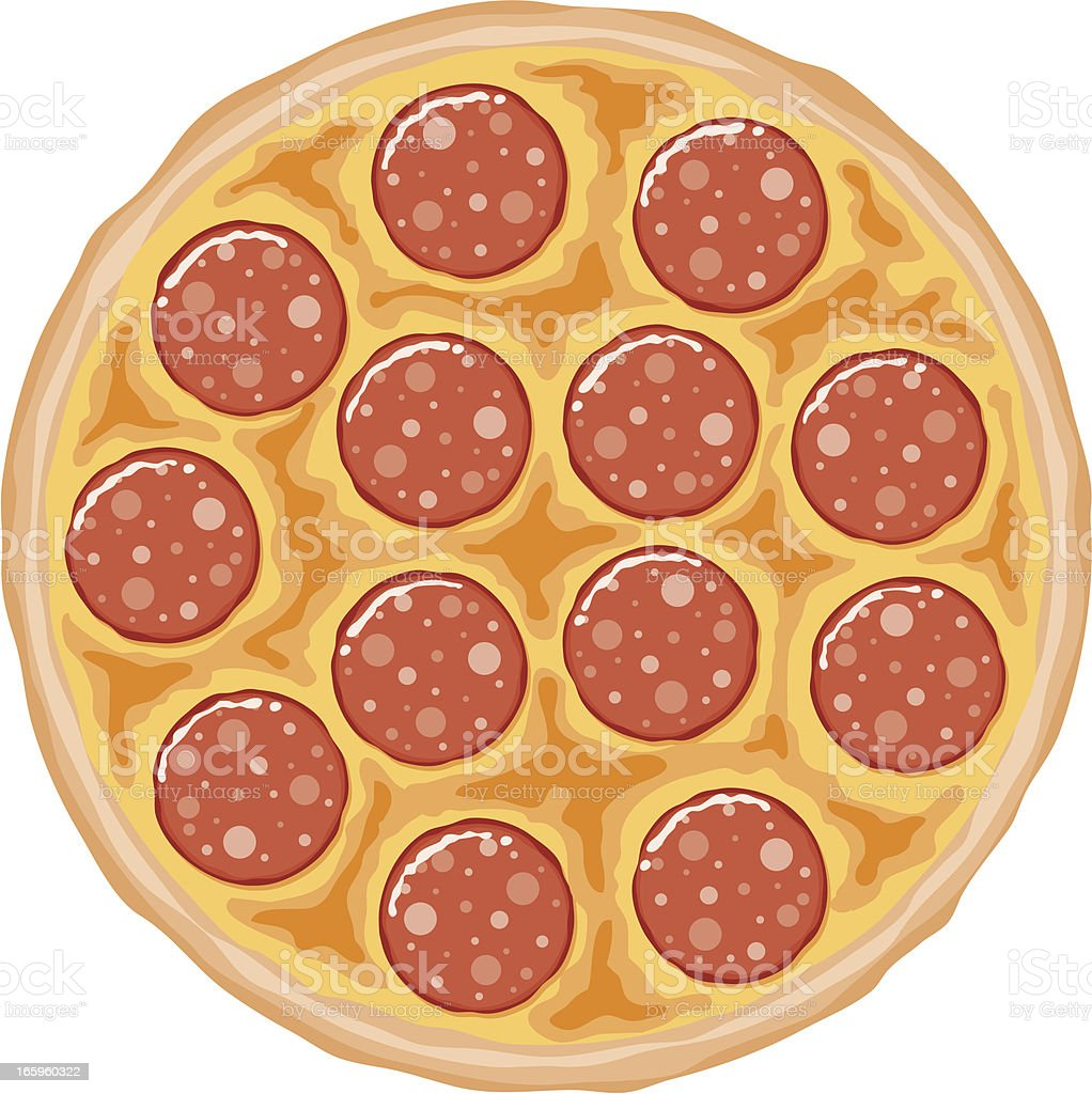 Pepperoni Pizza vector art illustration