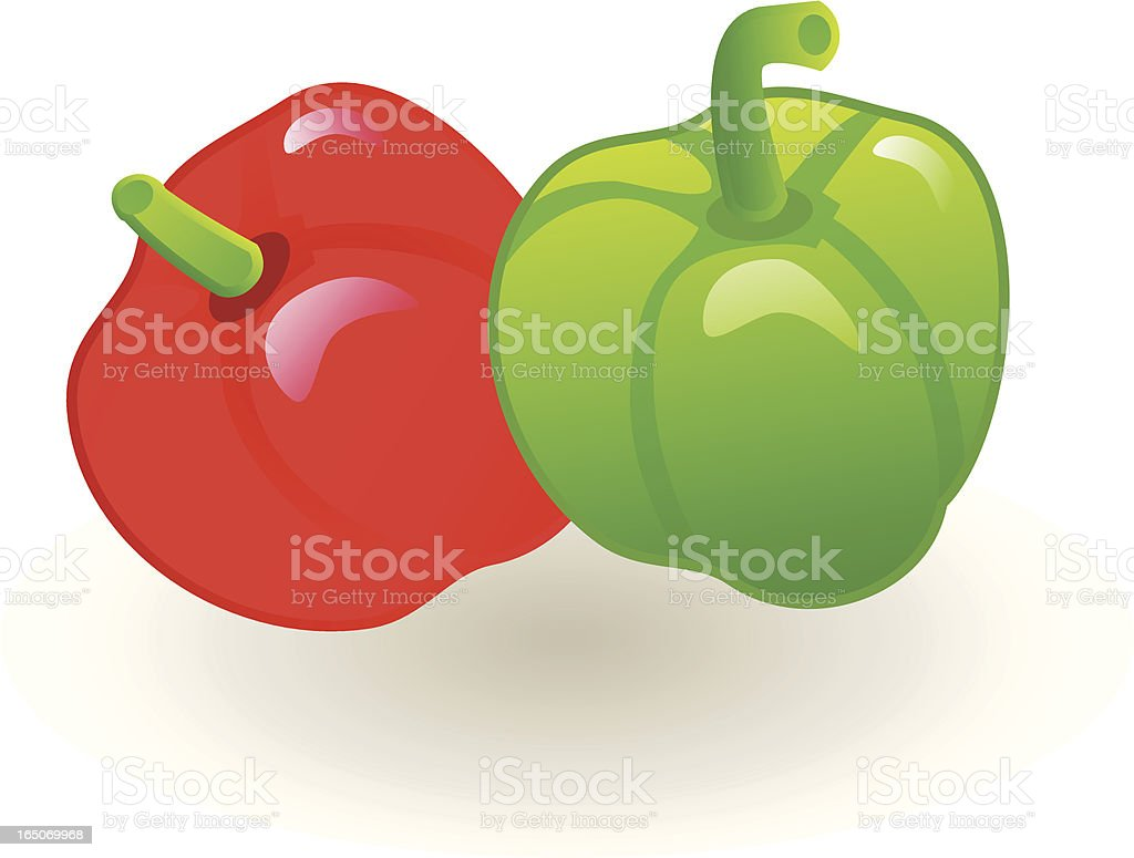 Peppers . royalty-free stock vector art