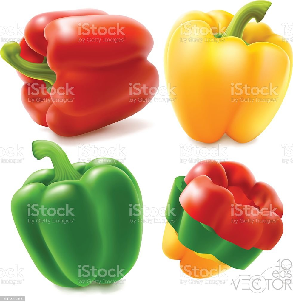 Peppers vector art illustration