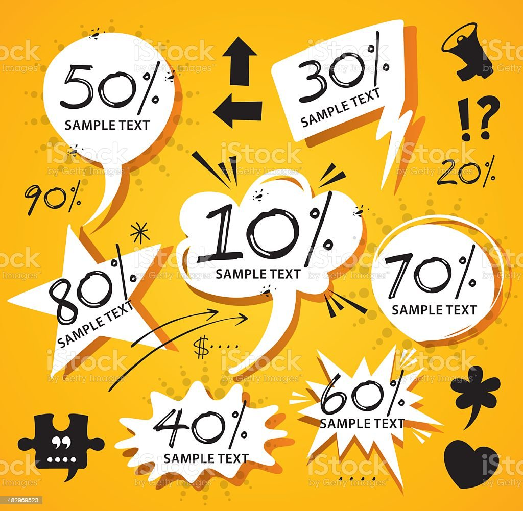 Percentage Labels royalty-free stock vector art