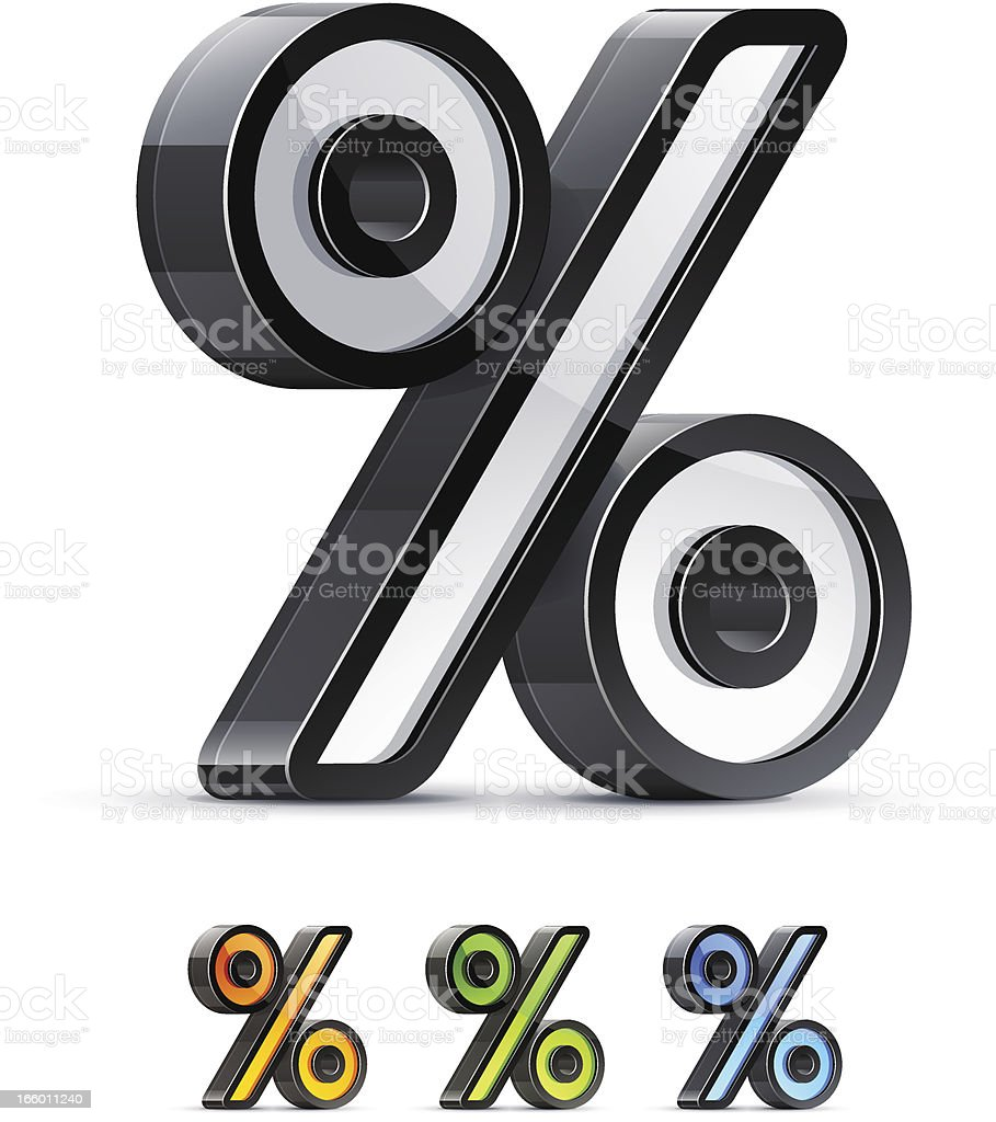 Percentage sign royalty-free stock vector art