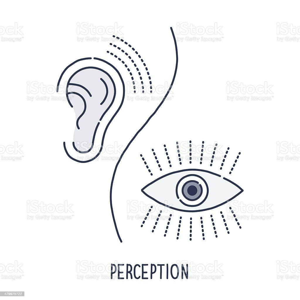 Perception Symbol vector art illustration