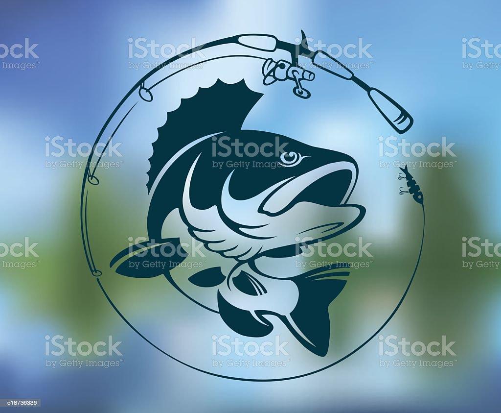 perch  logo vector art illustration