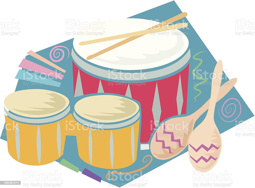 Percussion Ensemble vector art illustration