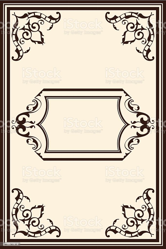 Perfect classic page vector art illustration