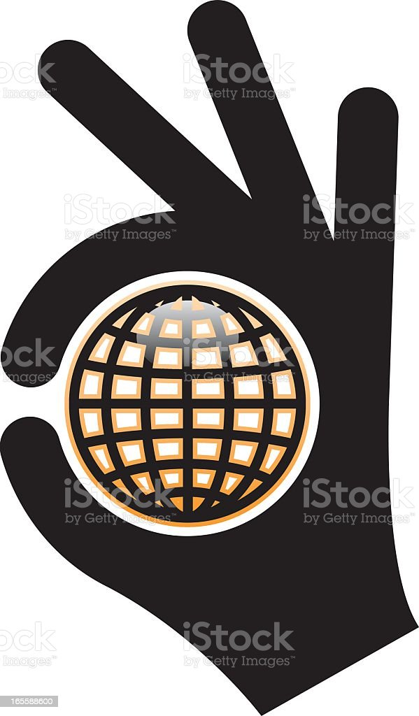 Perfect globe royalty-free stock vector art