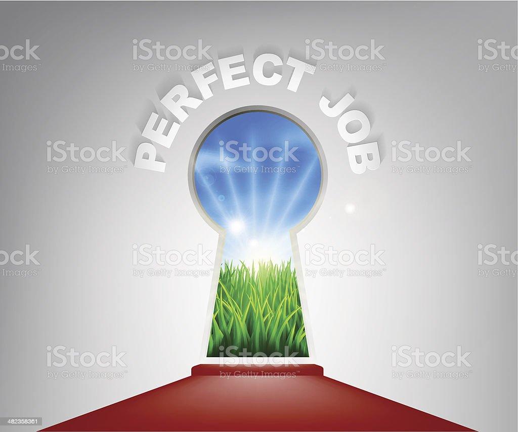 Perfect Job Keyhole Concept royalty-free stock vector art