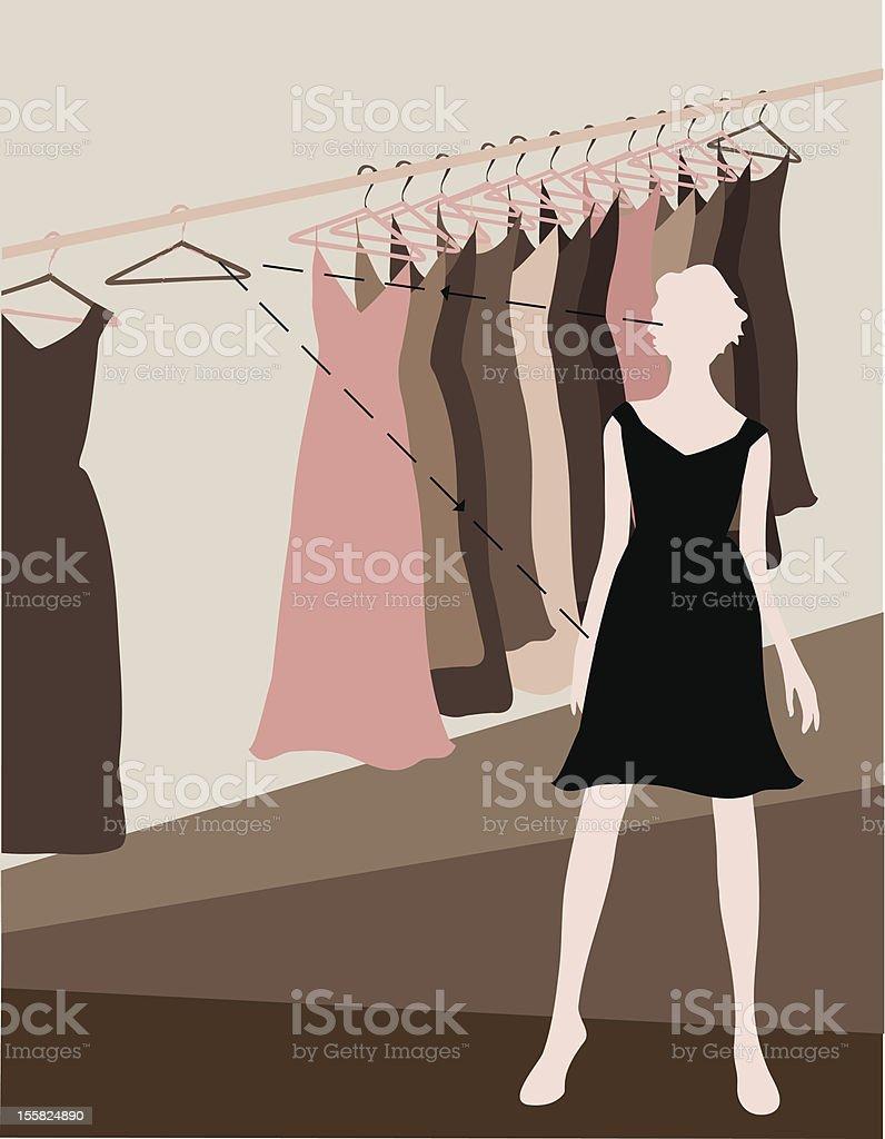 Perfect Little Dress royalty-free stock vector art