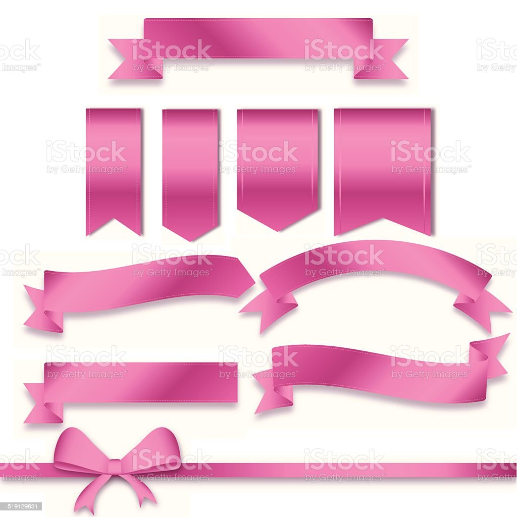 Perfect pink messages vector art illustration