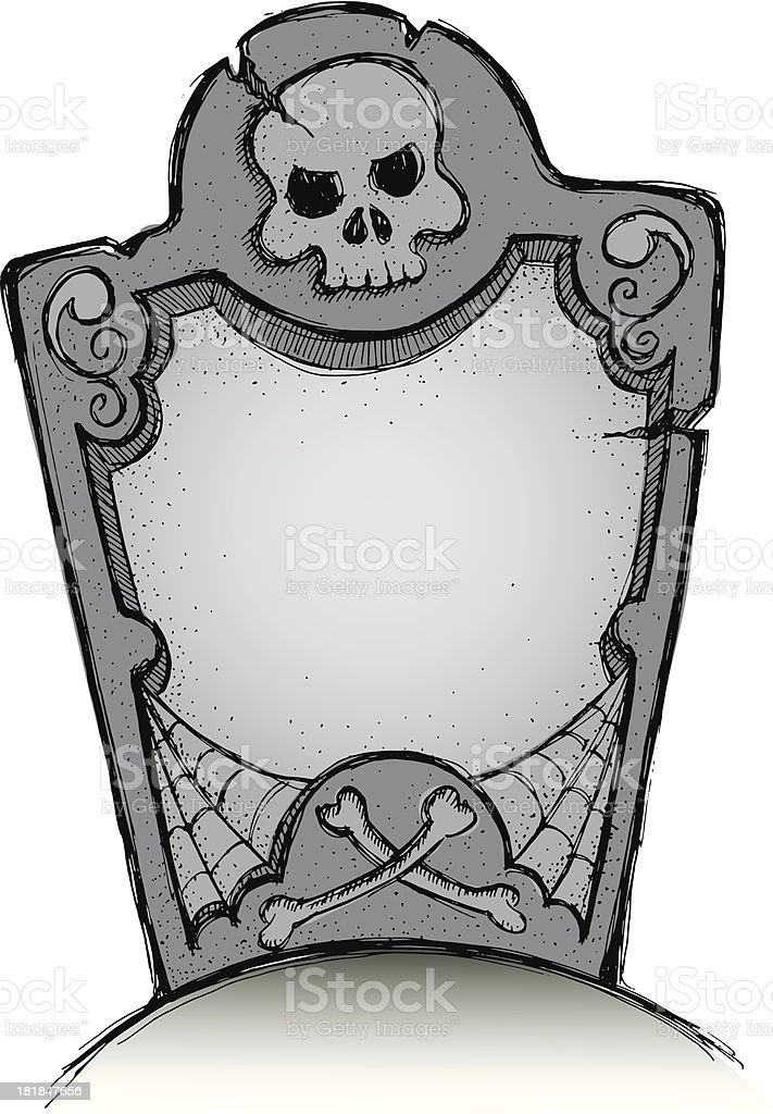 Perfect tombstone in color vector art illustration