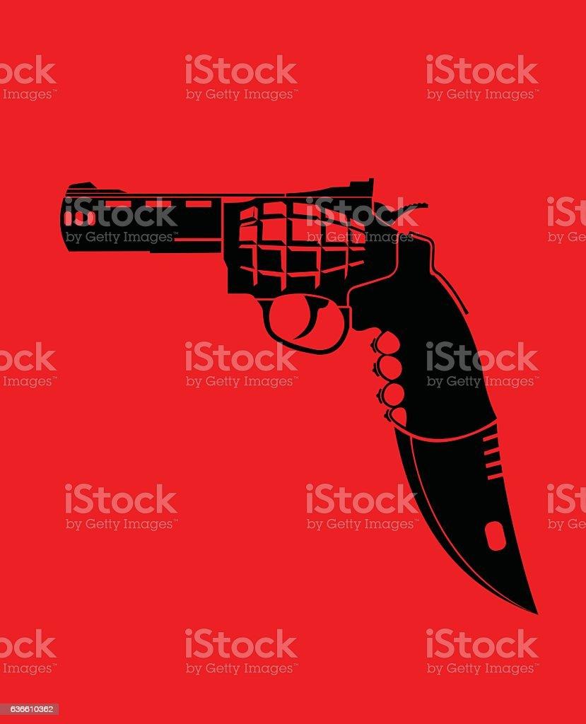 perfect weapon vector art illustration