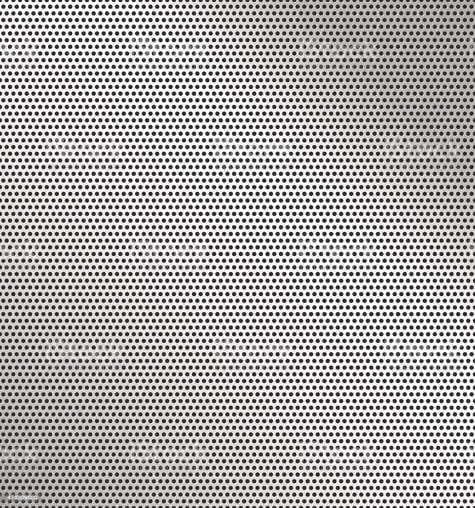 Perforated metal background vector art illustration