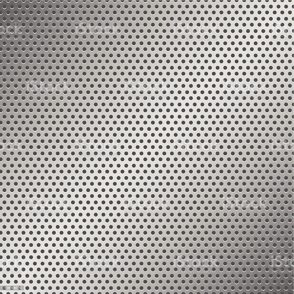 Perforated Metal Pattern royalty-free stock vector art