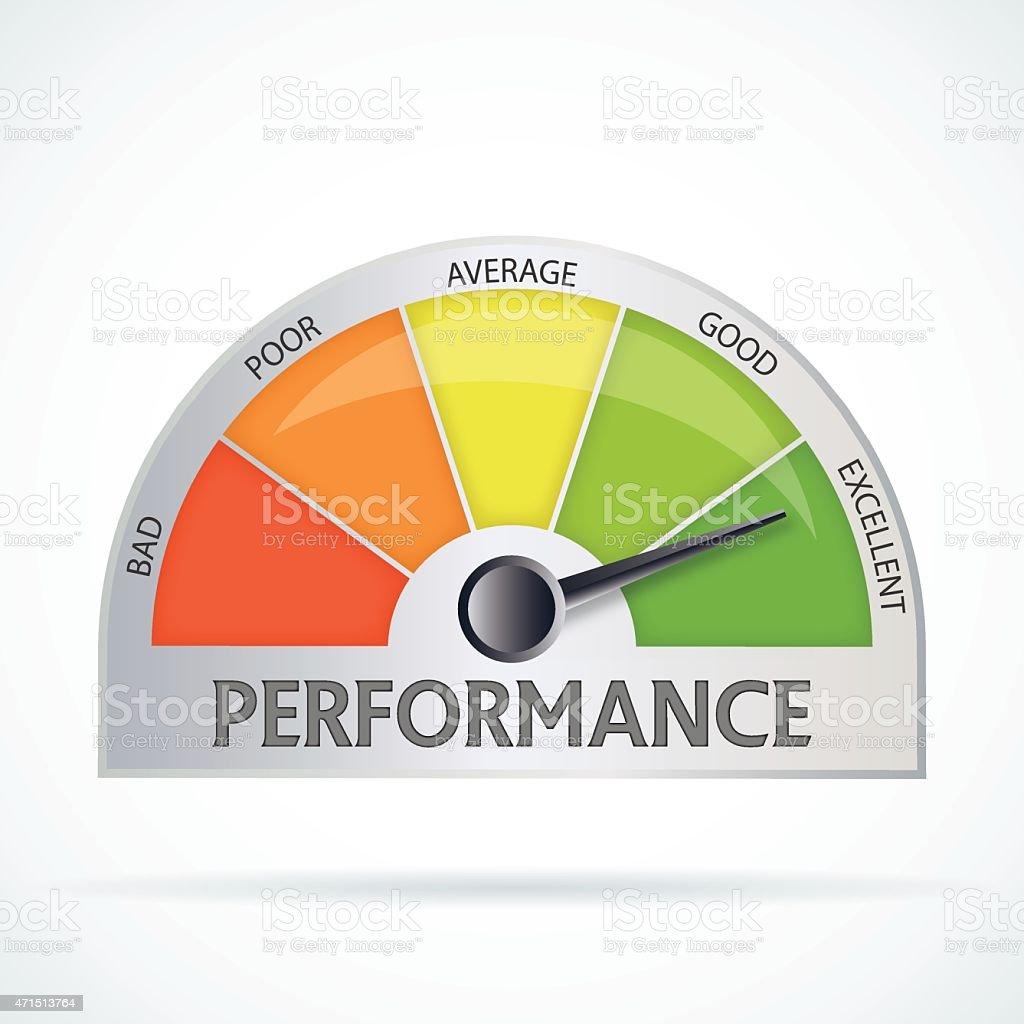 Performance chart vector art illustration