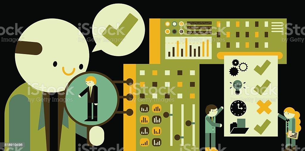 Performance Evaluation vector art illustration