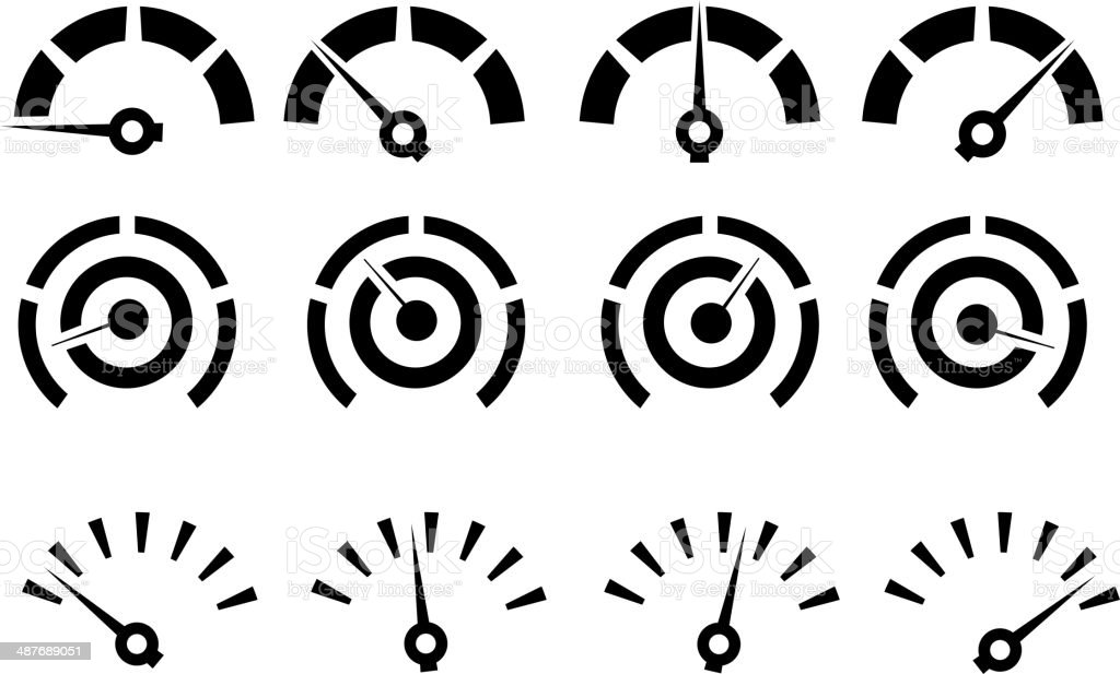 Performance Icon Set vector art illustration