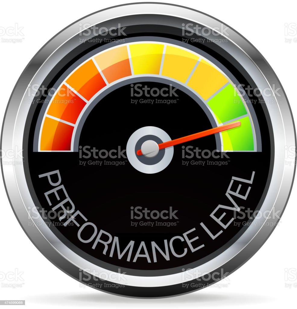 Performance Meter Illustration vector art illustration