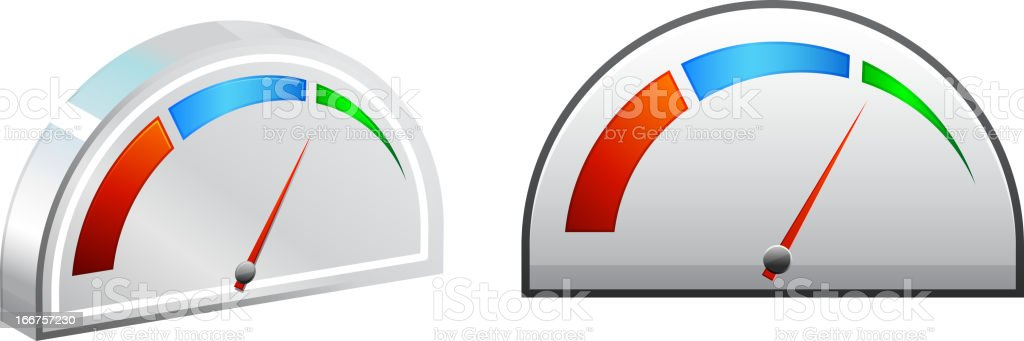 Performance Meter royalty-free stock vector art