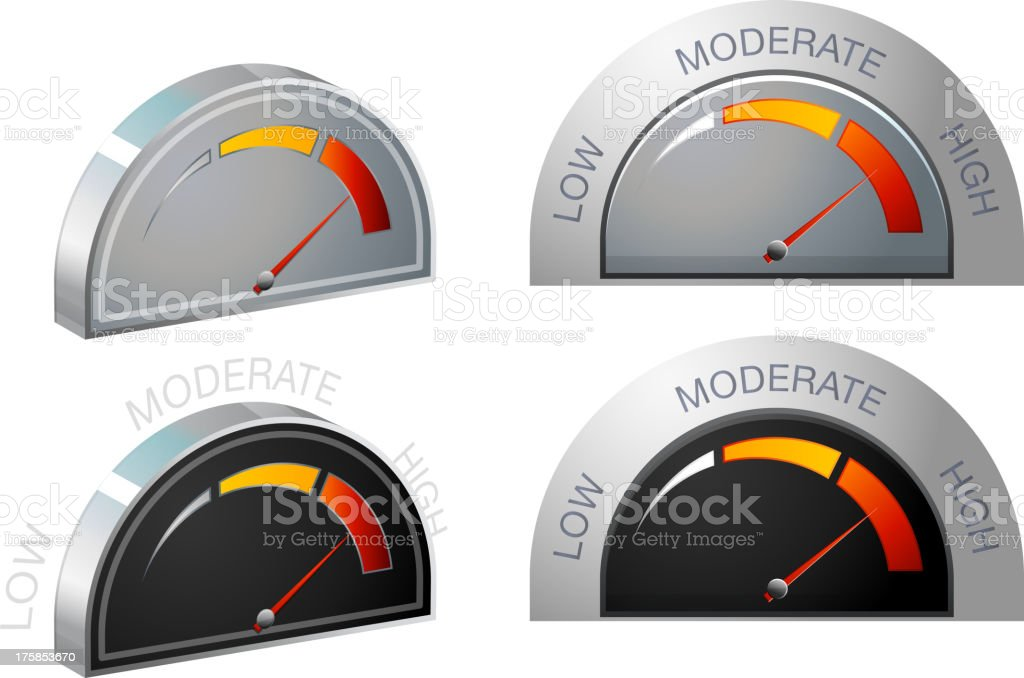 Performance Meter royalty-free stock vector art