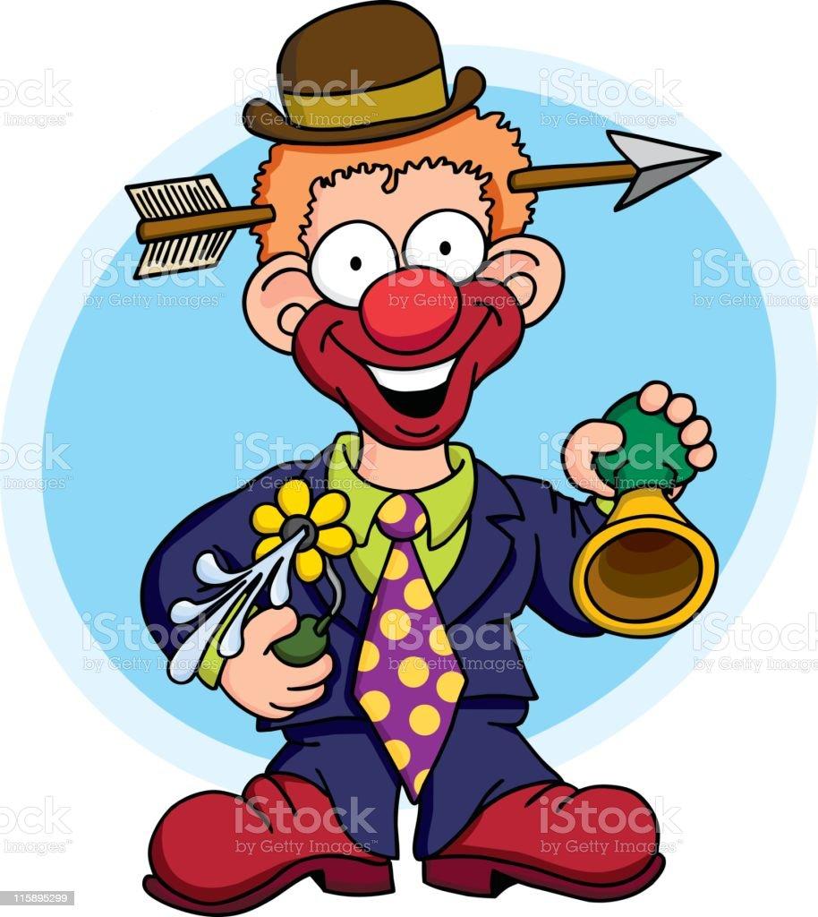 Performing Clown vector art illustration