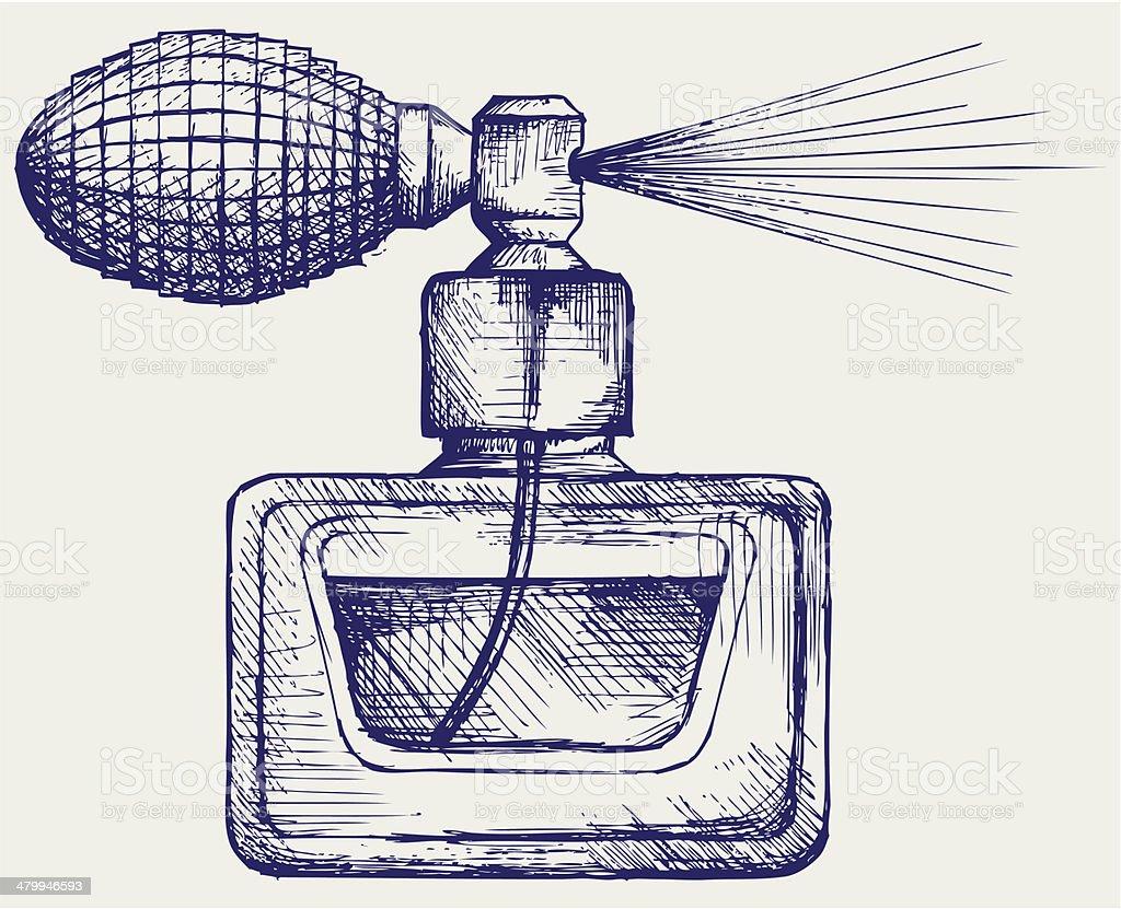 Perfume bottle vector art illustration
