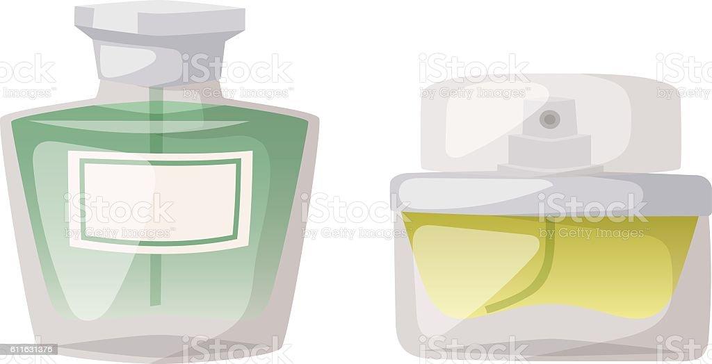 Perfume bottle vector template vector art illustration