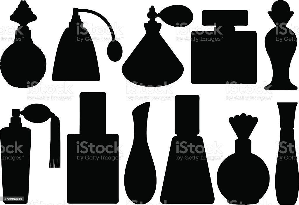 Perfume bottles vector art illustration