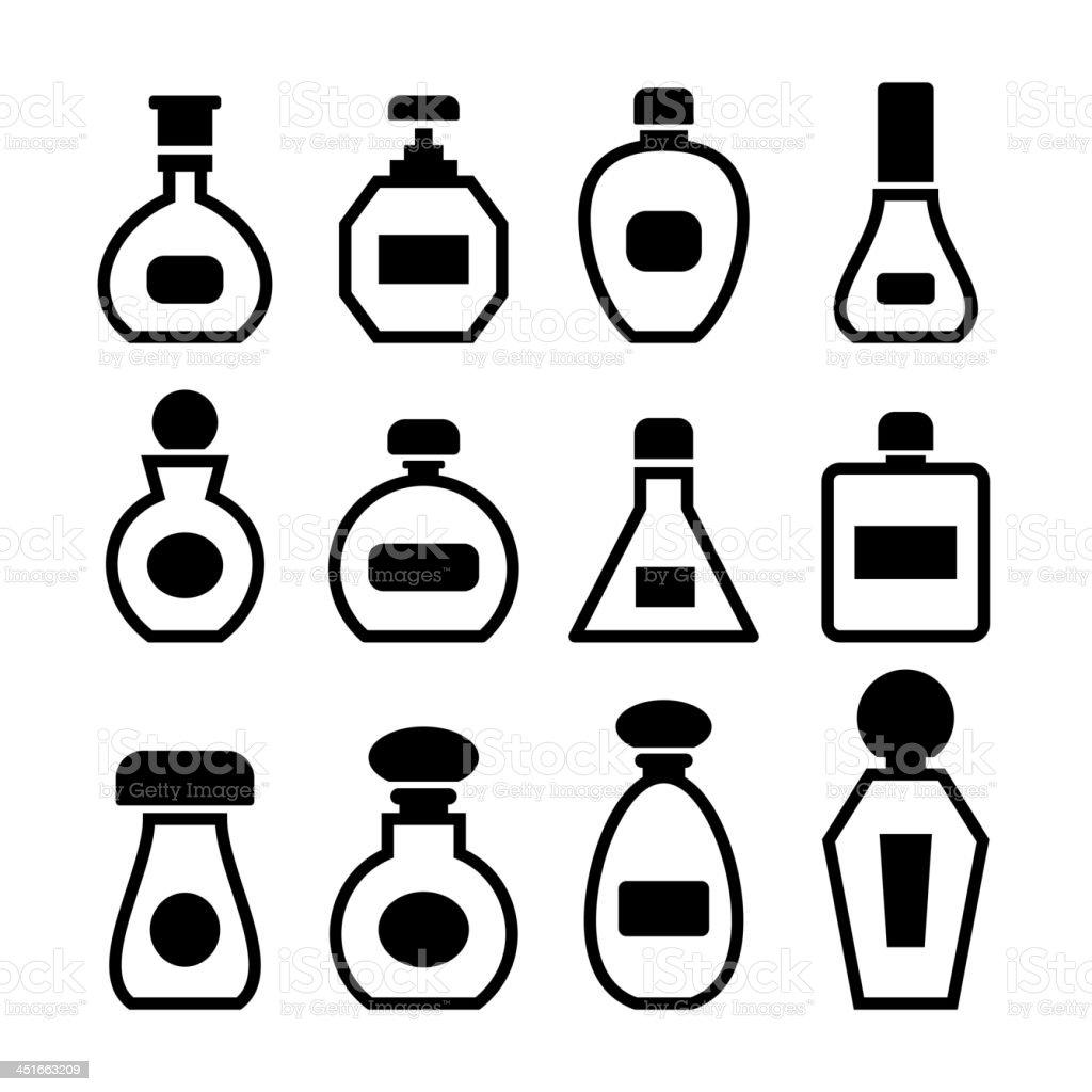 Perfume bottles vector royalty-free stock vector art