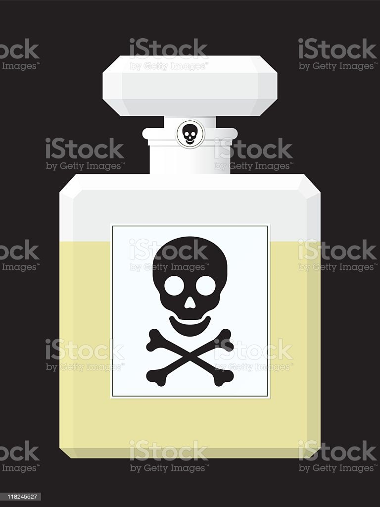 Perfume flask with toxic liquid royalty-free stock vector art