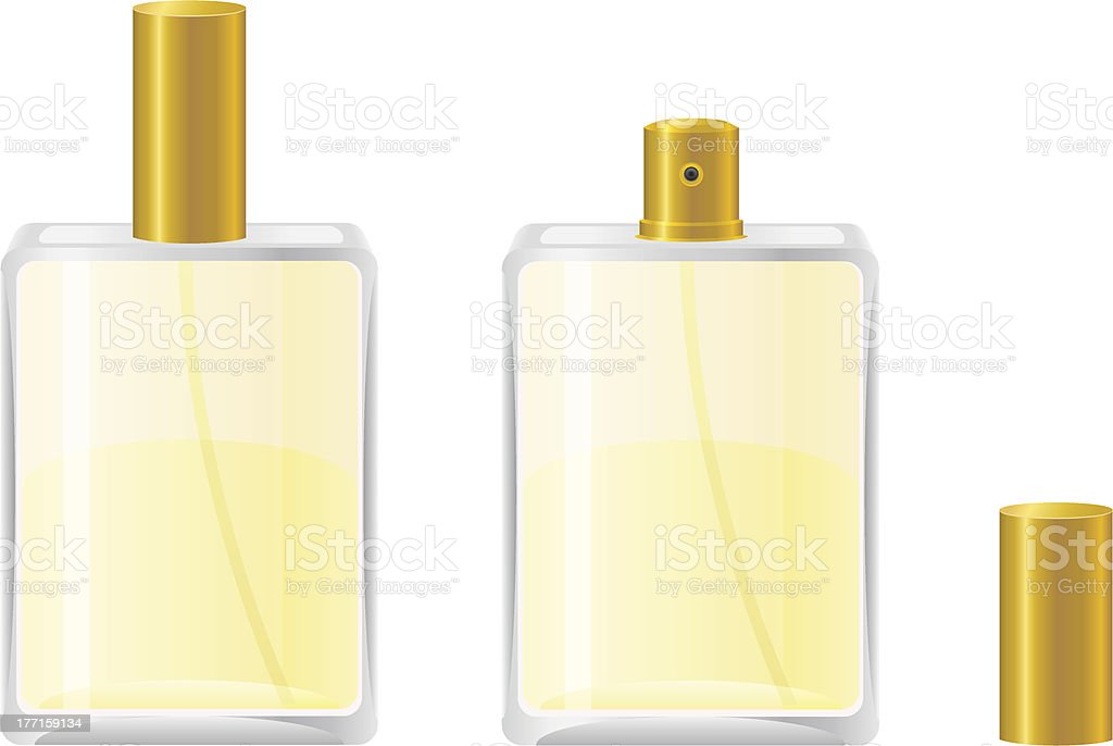 perfumes in bottle vector illustration royalty-free stock vector art