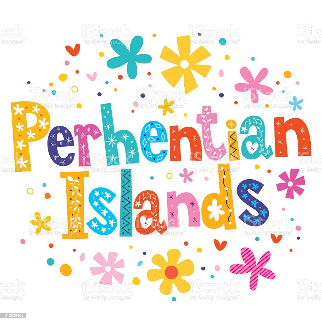Perhentian Islands vector lettering decorative type vector art illustration