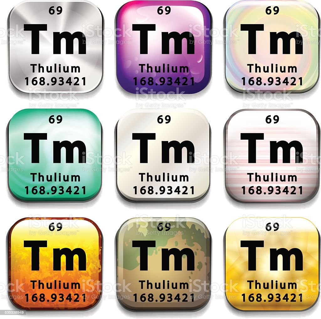 Thulium periodic table choice image periodic table images periodic table button showing the thulium stock vector art periodic table button showing the thulium royalty gamestrikefo Gallery