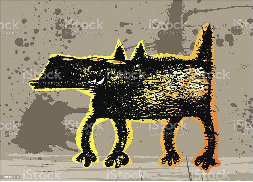 perro malo vector art illustration