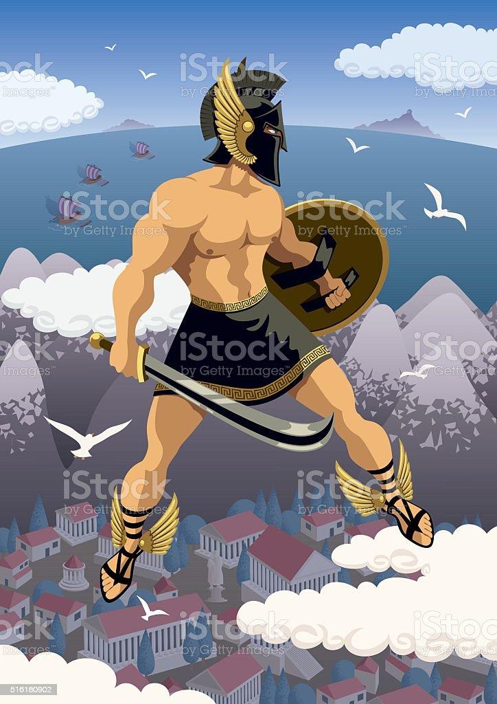Perseus vector art illustration