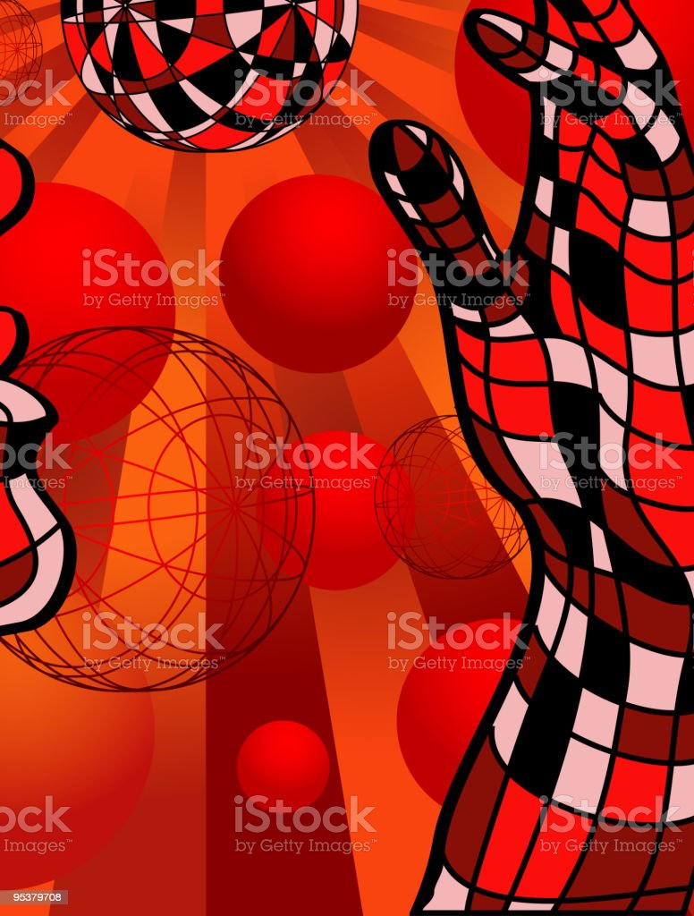 Person and sphere royalty-free stock vector art