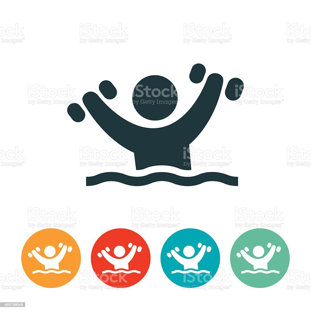 Person Doing Water Aerobics Icon stock vector art 465739046 | iStock